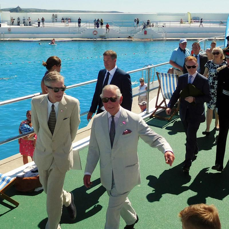 Prince Charles with Martin Nixon: 2016 re-opening