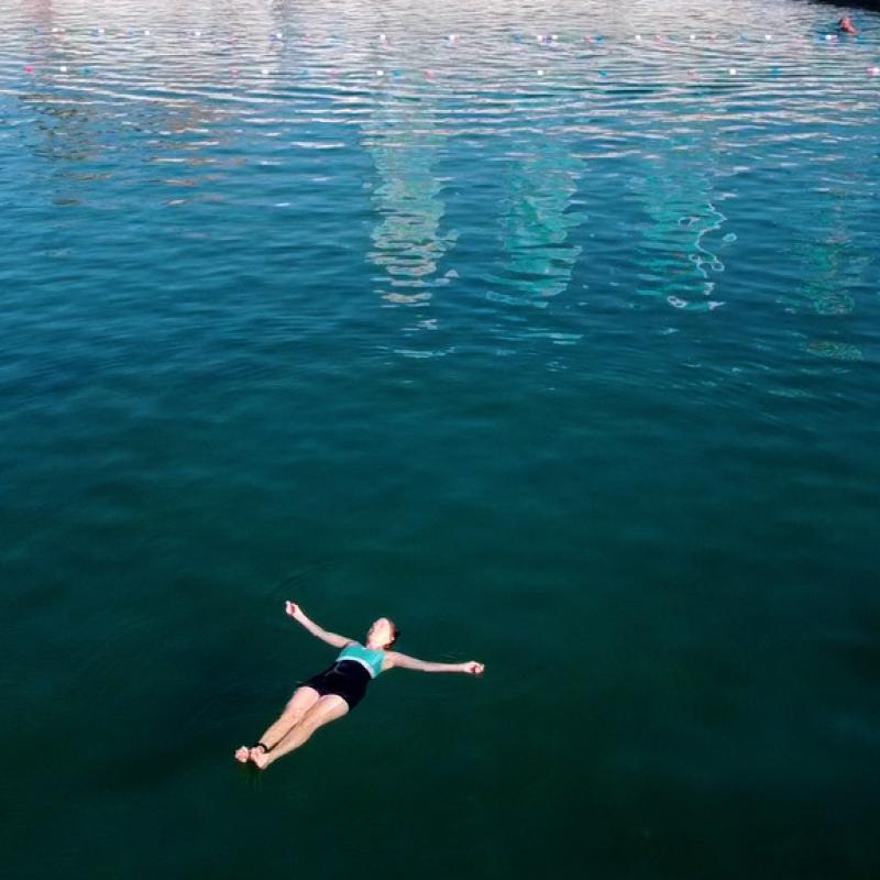 Solitary swimmer