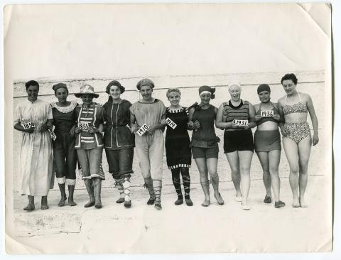 Ladies swimwear through the ages