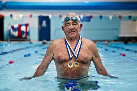 Brian Martin with medals