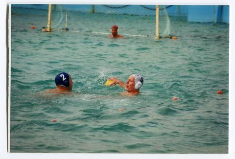 Water polo team in action