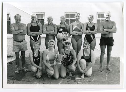 Ladies water polo team, regional champions