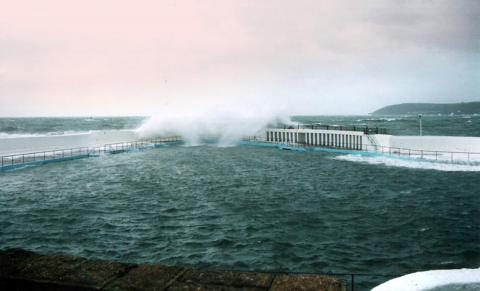 Bad weather at Jubilee Pool