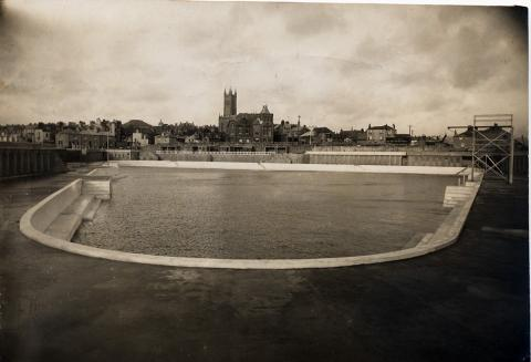 Pool, newly completed