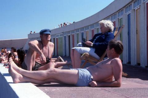 Relaxing at Jubilee Pool