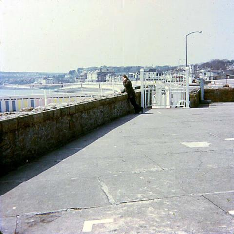 Man overlooks the Jubilee Pool
