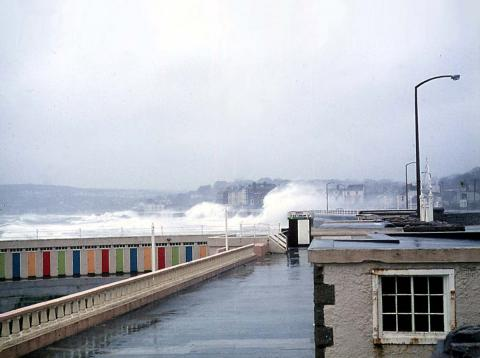 Promenade during a storm, Jubilee Pool walls visible (1 of 4)