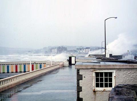 Promenade during storm, Jubilee Pool walls visible (4 of 4)