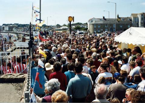 Packed promenade for the 'Grand Re-opening' of 1994