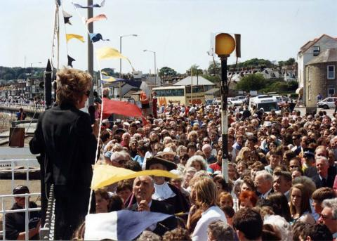Speech to crowds at the 'Grand Re-opening' of 1994