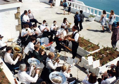Band playing at the 'Grand Re-opening' of 1994