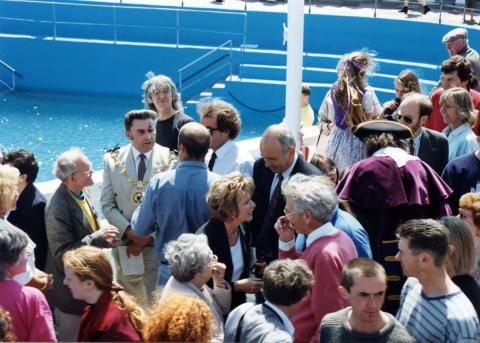 Local dignitaries at 'Grand Re-opening' of 1994 (2 of 2)
