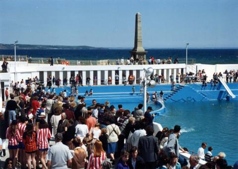 Watching crowds at 'Grand Re-opening' of 1994