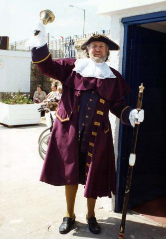 Town crier at the Jubilee Pool