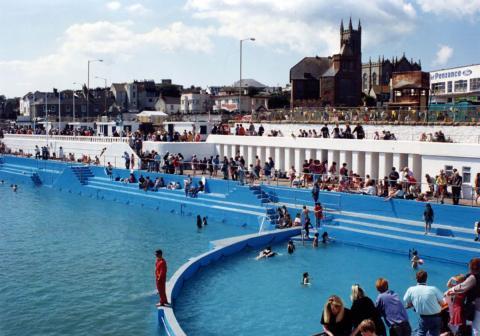 View across the Jubilee Pool