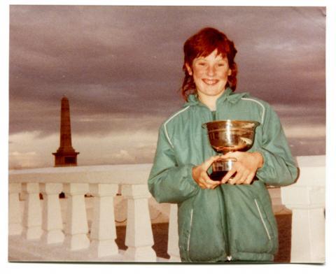 Kara Trevenen, winner of the James Bowl cup in 1986